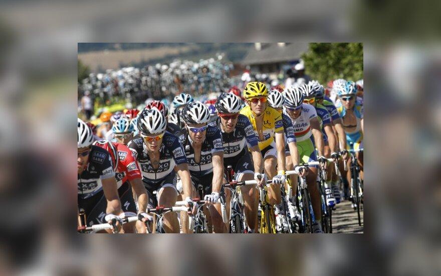 """Tour de France"" lenktynių 12-tąjį etapą I.Konovalovas baigė 125-as"