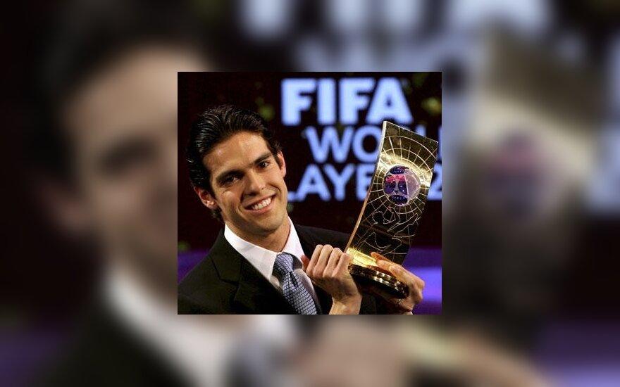 Kaka - geriausias 2007 metų pasaulio futbolininkas