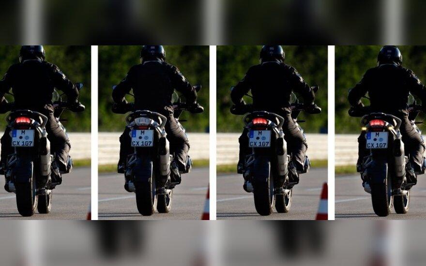 Motocikluose – nematytas galinio stabdžio signalas