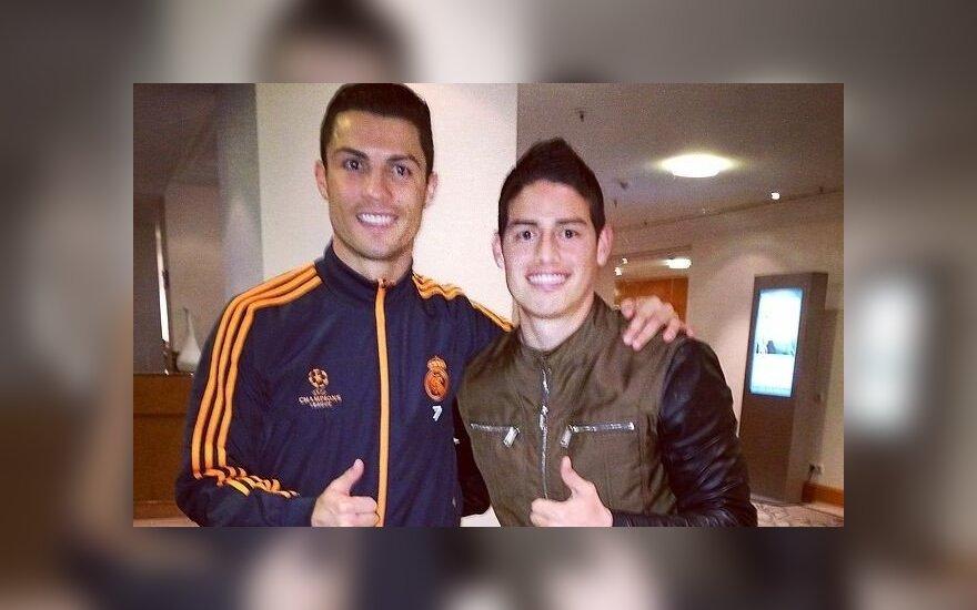 Cristiano Ronaldo ir Jamesas Rodriguezas