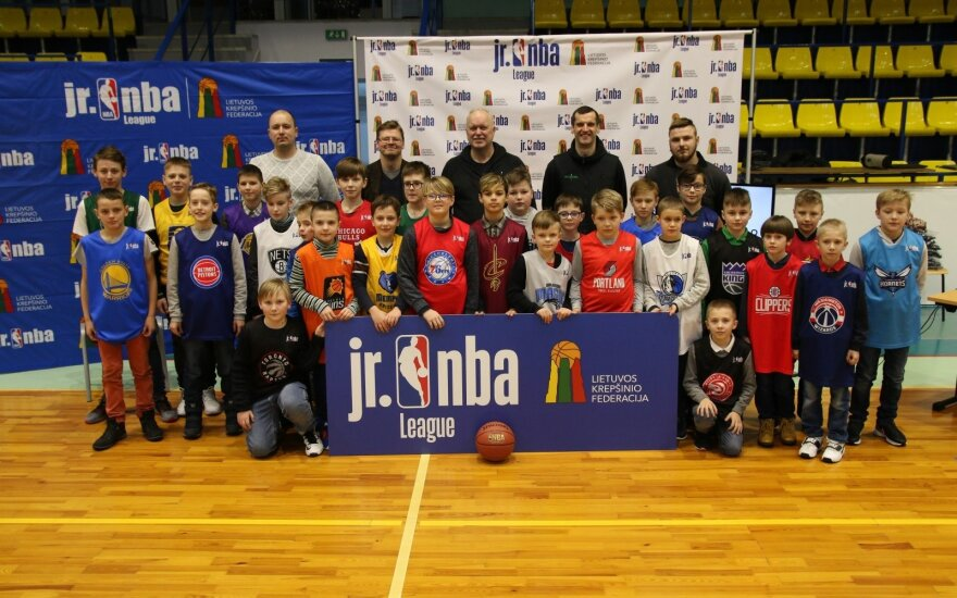 """""""Jr. NBA Lietuva"""" dalyviai"""