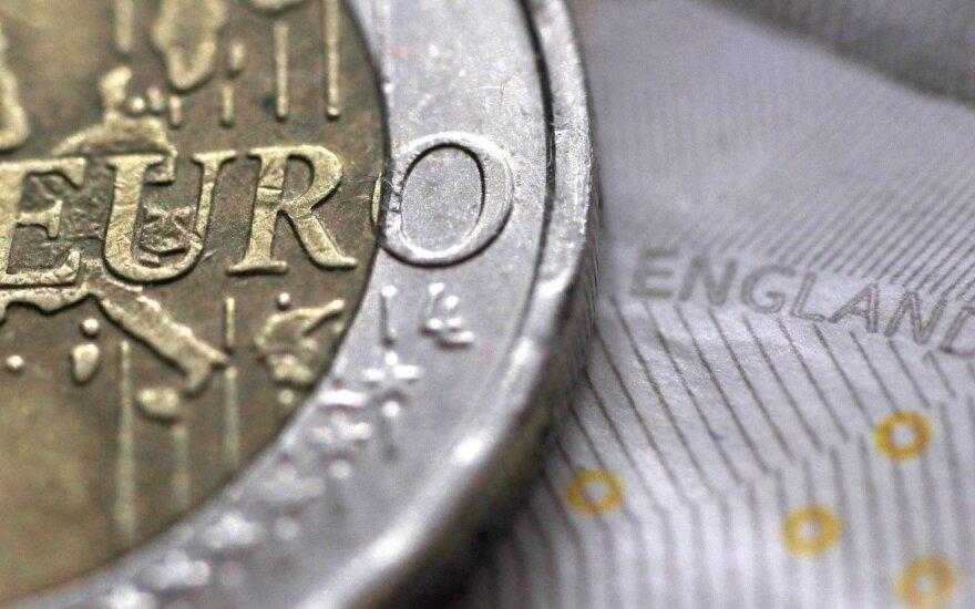 Emigrantų santaupos tirpsta akyse: netrukus svaras ir euras gali kainuoti vienodai