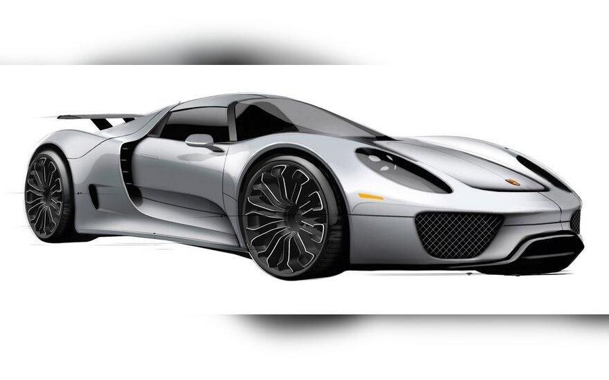 """Naujas ketverių durelių """"Porsche"""" kupė"""