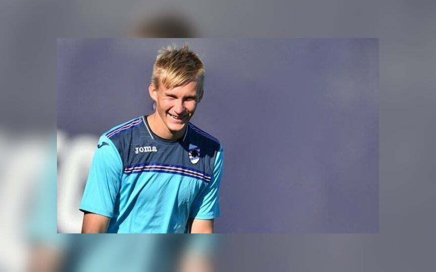 "Titas Krapikas ( ""Sampdoria"" nuotr.)"