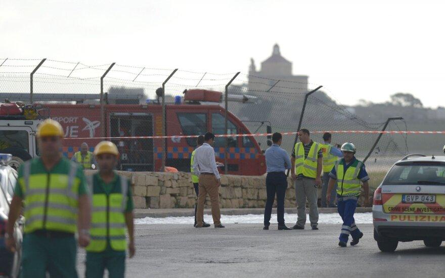 Maltoje sudužęs lėktuvas skrido į Libiją su sekimo misija