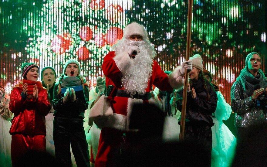Kalėdų eglės įžiebimo šventė Marijampolėje