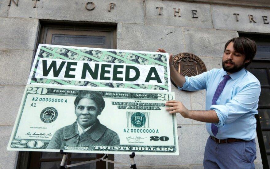 Harriet Tubman ant dolerio banknoto pavyzdžio