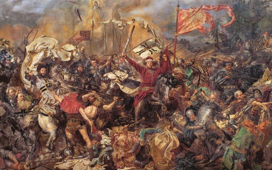 """Jano Matejkos paveikslas """"Žalgirio mūšis"""""""