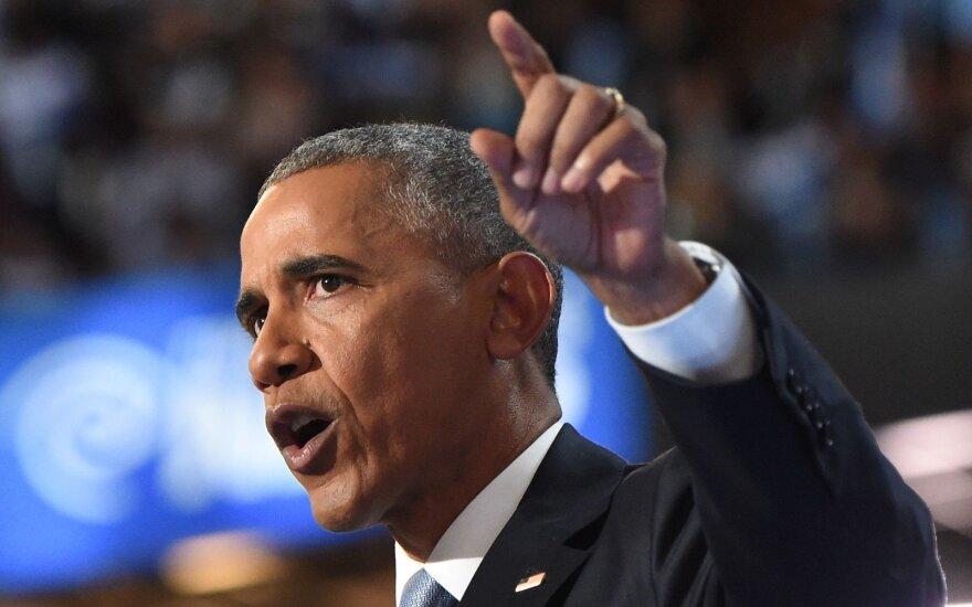 B. Obama atsikirto D. Trumpui po jo pareiškimo, kad V. Putinas yra daug geresnis lyderis