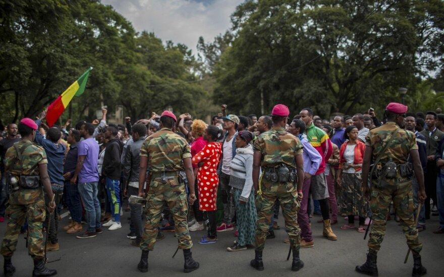 Demonstracijos Etiopijoje pareikalavo aukų