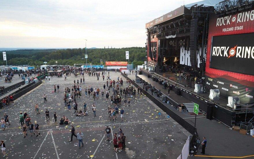 "Vokietijoje evakuotas ""Rock Am Ring"" festivalis"