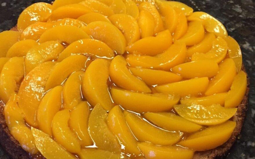 Persikų ir Philadelphia sūrio tortas