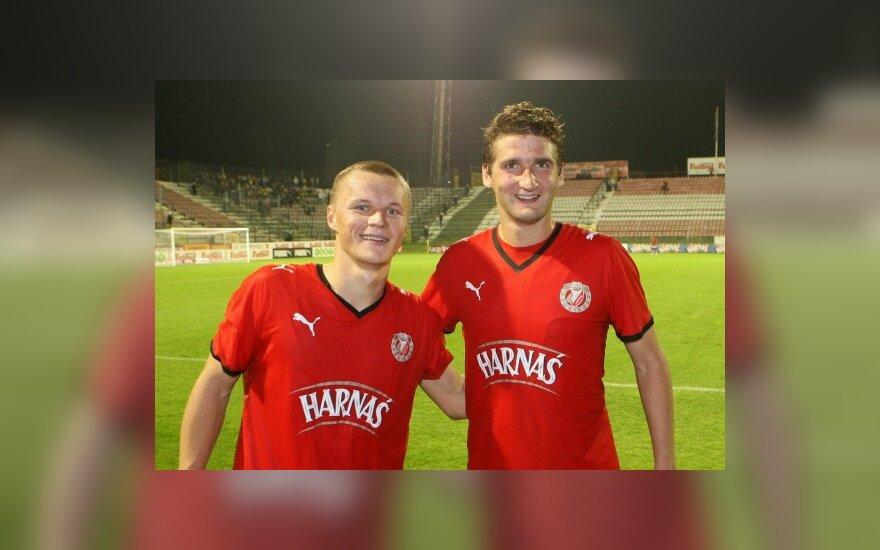 """Darvydas Šernas ir Mindaugas Panka (""""Widzew"""")"""