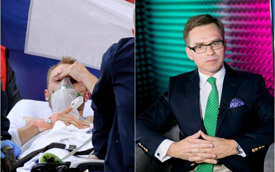 Profesorius Raimondas Kubilius pakomentavo savaitgalio įvykius, kai futbolininką Christianą Erikseną ištiko klinikinė mirtis