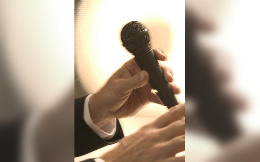 mikrofonas, garsas, kalbėti