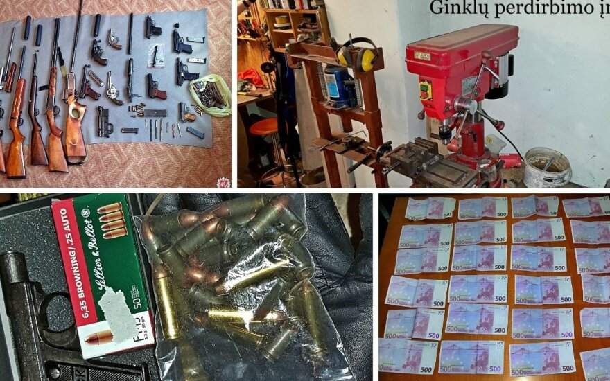 Stambiai tarptautinei ginklų kontrabandai, įtariama, vadovavo lietuvis