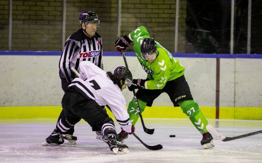 """""""Hockey Punks"""" ir """"Kaunas Hockey"""" rungtynių akimirka"""