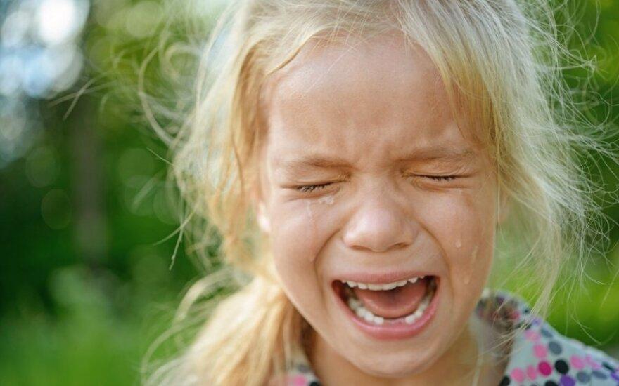 Vaikas pyksta