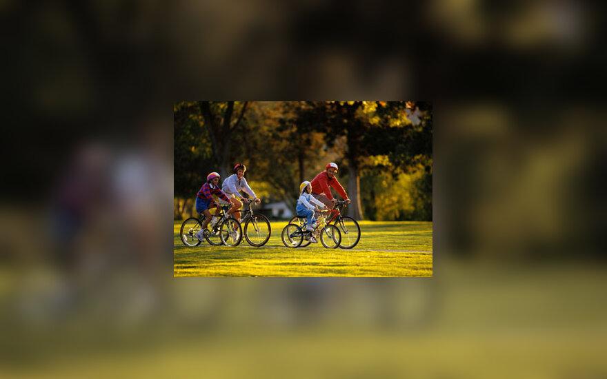 Šeima, laisvalaikis, dviračiai, atostogos