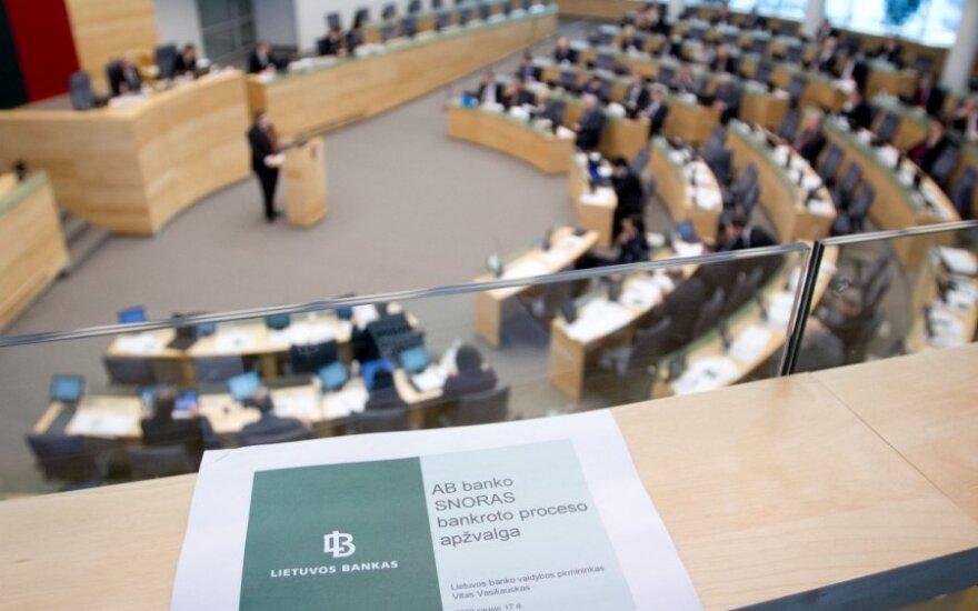 Pirmadienį Seimas rinksis į neeilinę sesiją