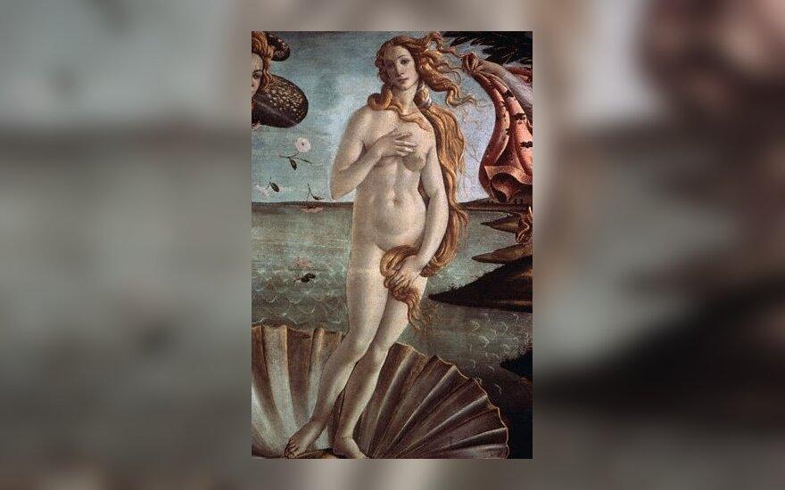 """S.Botičelio paveikslas """"Veneros gimimas""""."""
