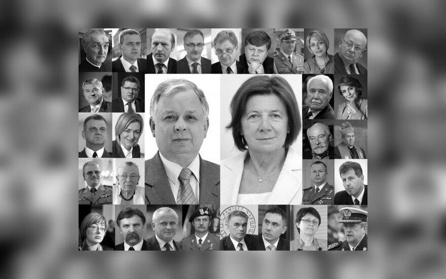 Lechas Kaczynskis ir Maria Kaczynska bei kiti žuvusieji per aviakatastrofą