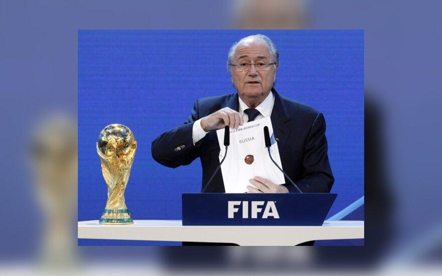 FIFA Valdybos komiteto verdiktą pristatė Josephas Blatteris