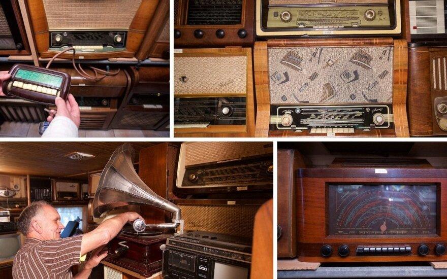 Algimantas Simaška ir jo radijo imtuvų kolekcija