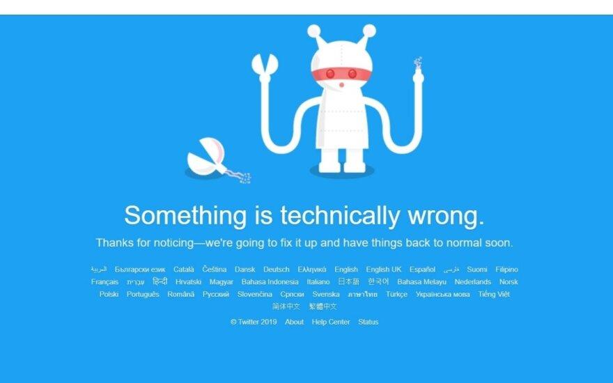 Sutriko Twitter veikla