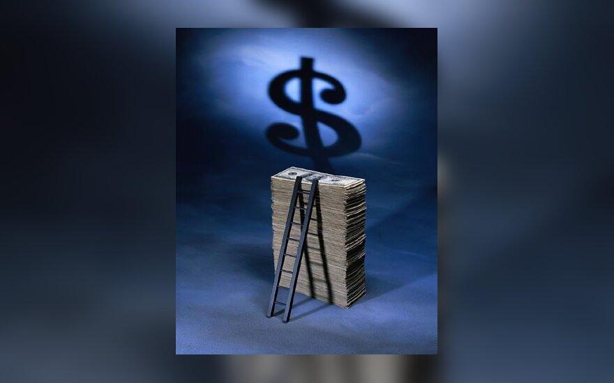 Pinigai, doleriai, USD, banknotai, verslas