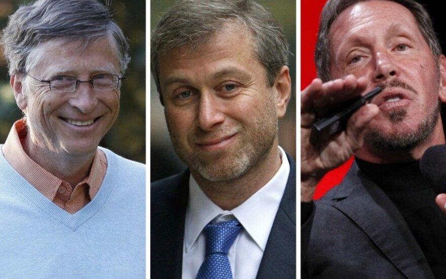 Billas Gatesas, Romanas Abromovičius, Larry Ellisonas