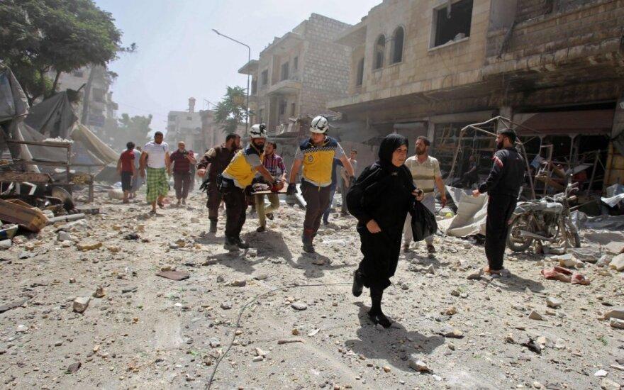Sprogdinimo Sirijos šiaurės vakaruose aukų padaugėjo iki 19