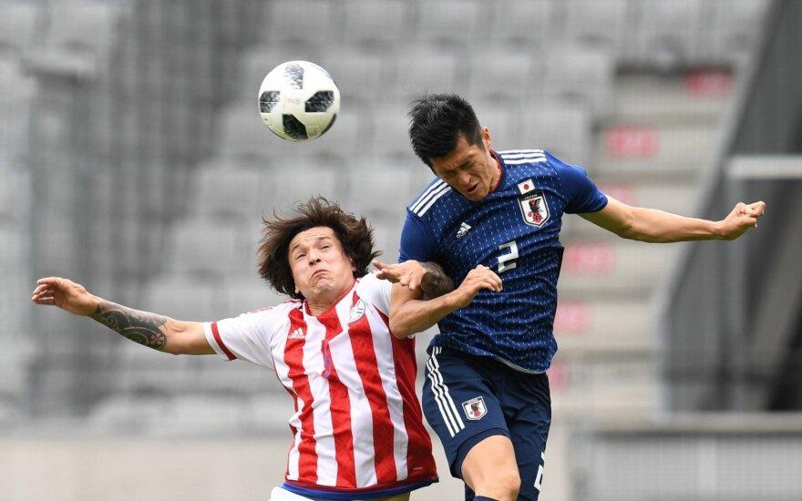 Futbolo kontrolinės rungtynės: Japonija - Paragvajus