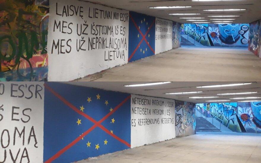 Vilnietei sukėlė šoką užrašai požeminėje perėjoje: ar tai įmanoma vienoje iš ES sostinių?