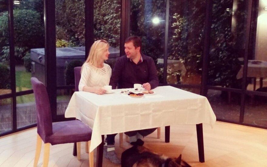Antanas Guoga su žmona Aiste