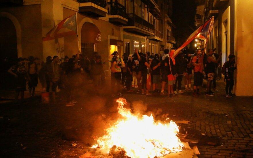 Puerto Rike nerimsta protestai prieš gubernatorių