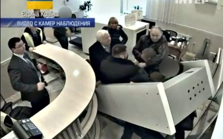 Paviešintas vaizdo įrašas, kaip iš Ukrainos pabėgo buvęs generalinis prokuroras ir ministras