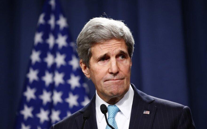 Ženevos derybos. J. Kerry