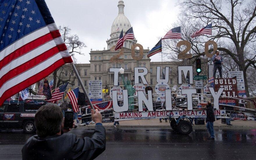 Mičigano gyventojai protestavo prieš saviizoliaciją