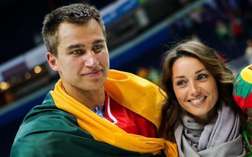 Dainius Zubrus su žmona Nathalie Sanschagrin/ Foto: hockey.lt