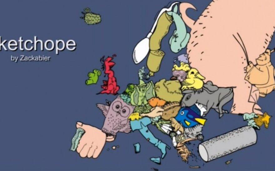 Naujausia Europos žemėlapio versija