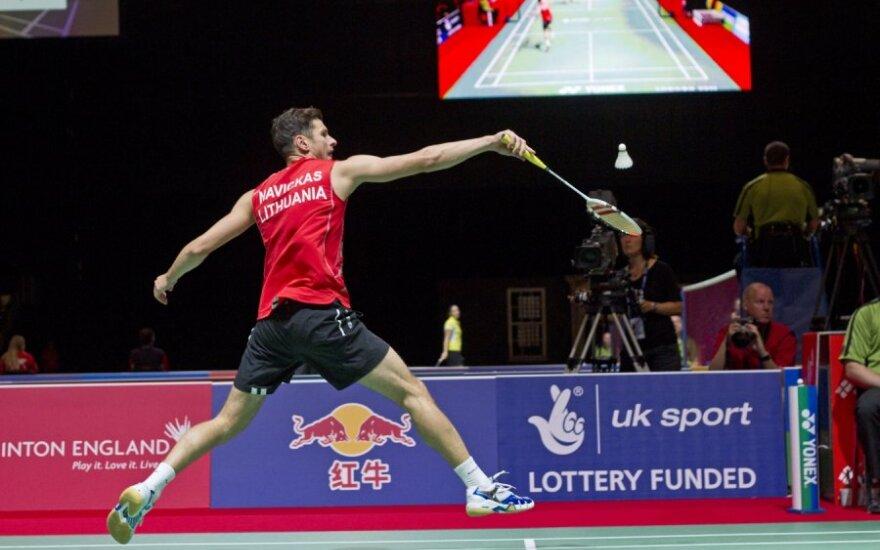 Badmintonininkas K. Navickas turnyre Slovėnijoje į finalą neprasimušė