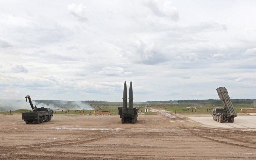"""Kaliningrado srityje per mokymus """"Iskander"""" """"sunaikino"""" sąlyginio priešo objektus"""
