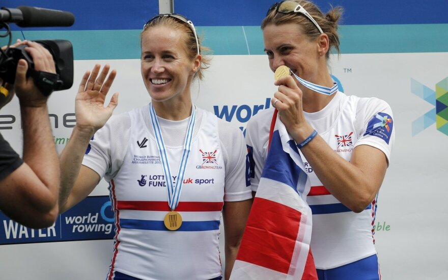 Helen Glover (kairėje) ir Heather Stanning