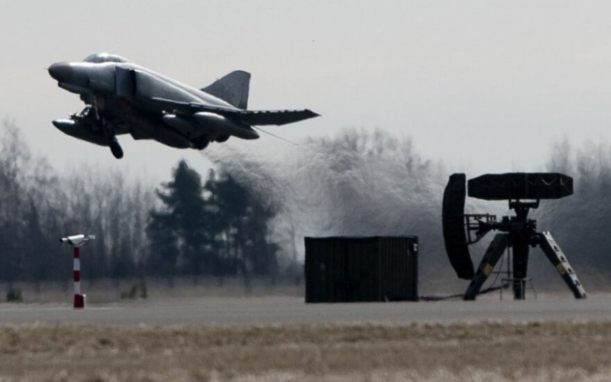 "Fighter jets  F4 ""Phantom"" in Šiauliai airport on the NATO air policing mission"