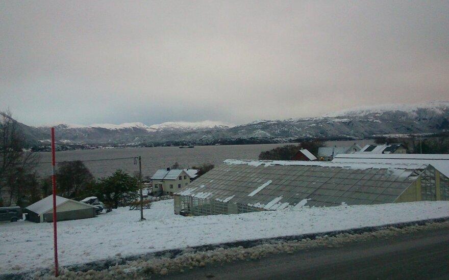 Norvegija jau džiaugiasi pirmuoju sniegu