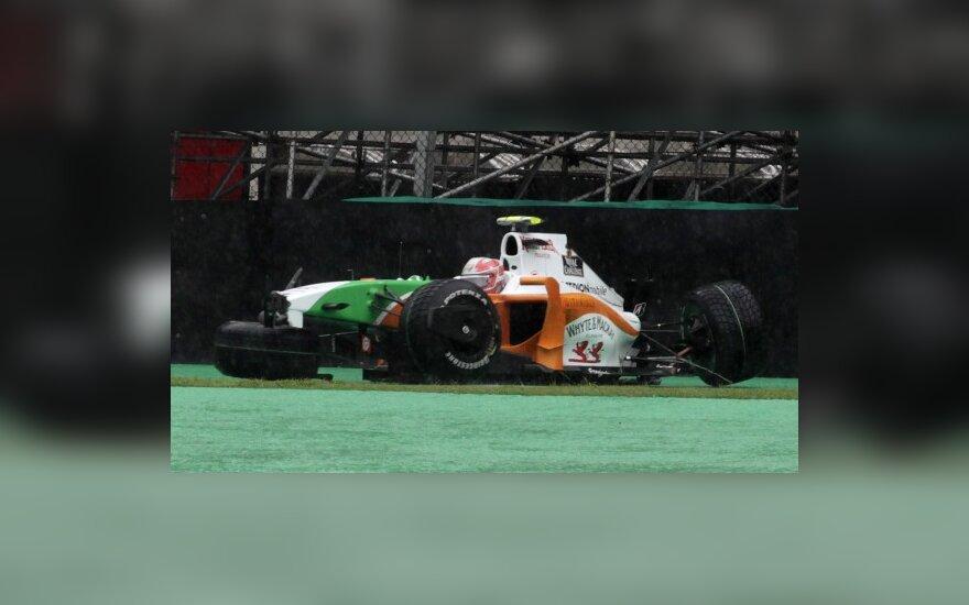 Vitantonio Liuzzi po avarijos