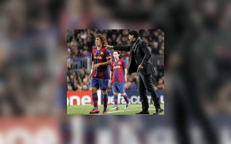 """""""Barcelona"""" trenerio Franko Rijkaardo patarimai Carlesui Puyoliui"""