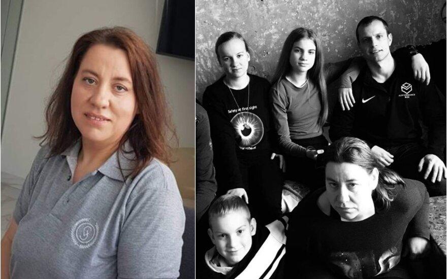 Rima Antonovienė su šeima