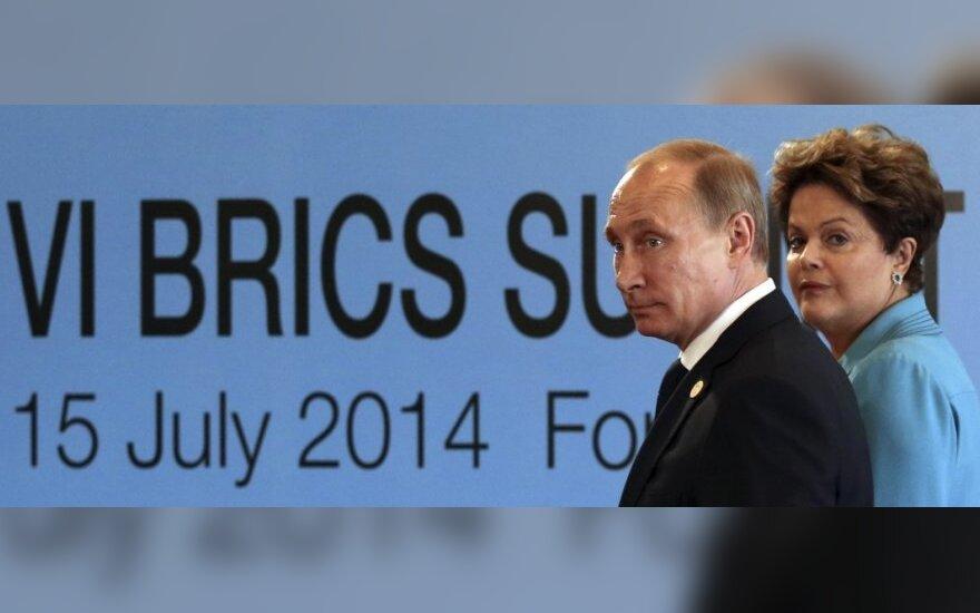 BRICS susitikimas Brazilijoje: V. Putinas ir D. Rousseff